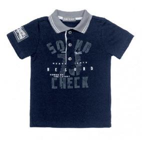 Camisa Manga Curta Com Gola Polo Azul Claro - Calçados 7fab3afc07c71