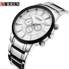 Relógio Masculino Inox Curren 8001 Pronta Entrega Barato Pro