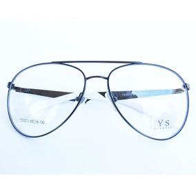 Armação Para Óculos De Grau Estilo Aviador - Óculos no Mercado Livre ... 80210fd7b5