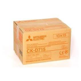 Papel Mitsubishi Ck D715 800 Foto Impresora Roja 120verdes