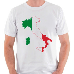 Camiseta Bandeira Italia - Camisetas no Mercado Livre Brasil 738fcf42ad606