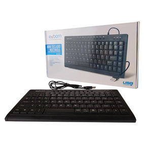 Mini Teclado Usb Multimídia Computador E Notebook Bk-m57