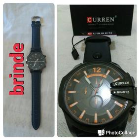 Relógio Curren + Brinde