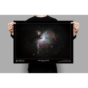 Poster A3 Lua Nebulosas Astros Astrofotografia