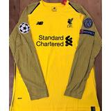 14a8a57a7a Camisa Liverpool Champions 2019 Alisson Becker Amarela