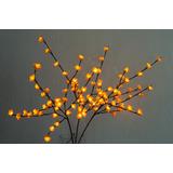 Figura Decorativa Iluminada Con 96 Leds Con Flores Amarillas