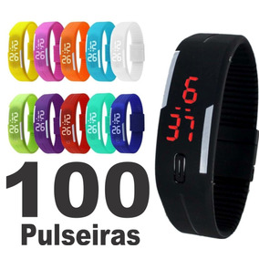 Kit 100 Relógio Pulseira Digital Led Sport Atacado Barato!!