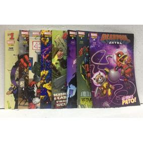 Coleção Hq Marvel Deadpool Extra 7 Volumes Editora Panini