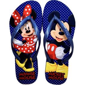58709d8eb6 Chinelo Havaianas Slim Personalizado Mickey Minnie Azul