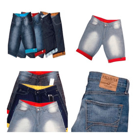 Kit 4 Bermuda Short Jeans Masculina De Marca Skinny Top