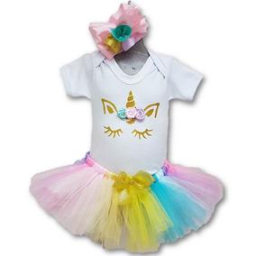 Tutu Unicornio Glitter Con Valerina Tallas De 0 A 18 Meses