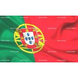 Bandeira De Portugal Cetim 1,50m X 90cm Portuguesa Cr7