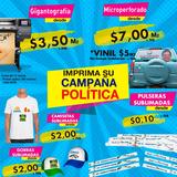 Campaña Política Gigantografia, Vinil, Camisetas, Gorras