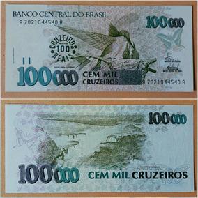 Cédula 100 Cruzeiros Reais C235 1993 Fe ( Flor De Estampa )