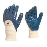 9baea55a945d1 Luva De Segurança Em Algodão Revestida Em Látex Azul