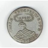 Moneda Chilena 1 Peso De Coquimbo, 1828 (repro). Jp