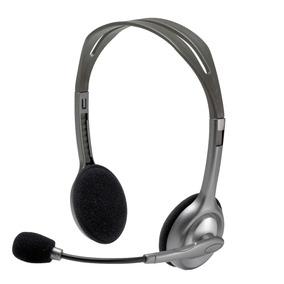 Headset Stereo Logitech H110 Cinza Com 12 Meses De Garantia