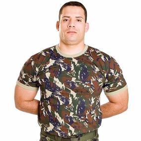 Camiseta Camuflada Exército Brasileiro 100% Algodão - Camisetas ... d8f511dfb91