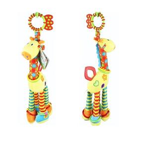 Mobile Girafa Pelúcia Chocalho Mordedor Mini Móbile
