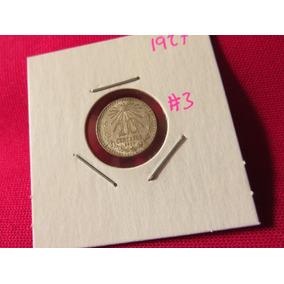Moneda 10 Centavos 1927 Ley .720 Troquel Roto #3