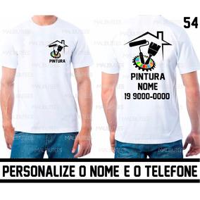 Uniforme Pintura Pintor Residencial Camiseta Com Nome Ref 54 f2e5b1856052f