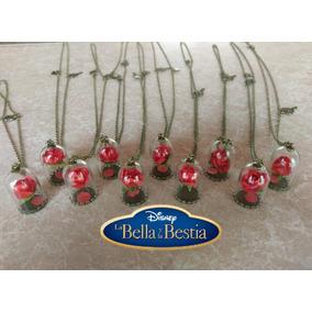 Lote 10 Collares Rosa Encantada De La Bella Y La Bestia