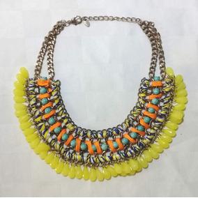 165 Collar Amarillo Tejido