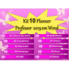 Kit 10 Planner Professor 2019 Em Word