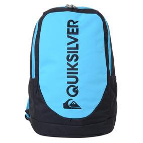 Mochila Masculina Quiksilver Locker Black Neon Blue 34l
