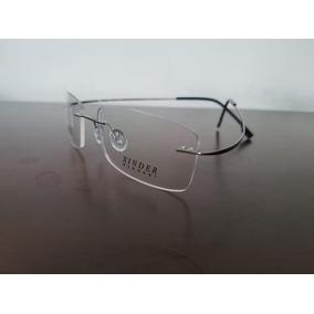 5f0a3949fb40d Armação Óculos De Grau Sem Aro Feita De Titanium Prata A408 - Óculos ...