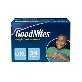 Goodnites Bedtime Bedwetting Ropa Interior Para Niños, L-