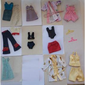 Roupas P/boneca Barbie - Lindo Kit C/10 Conjuntos (usado)