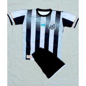 Conjunto Infantil C 1 Meião Preto Santos Futebol 97221a50a1c5e