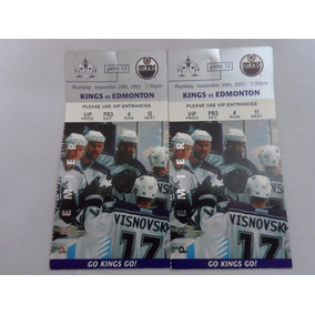 Ingressos Nhl - Kings Vs Edmonton 2001- Hockey