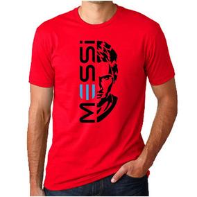 Remeras Del Barcelona Messi - Remeras Manga Corta de Hombre Rojo en ... 1566ee4c343