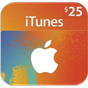 Codigo Itunes 25 Usd Apple Gift Card Itunes 25usd Digital