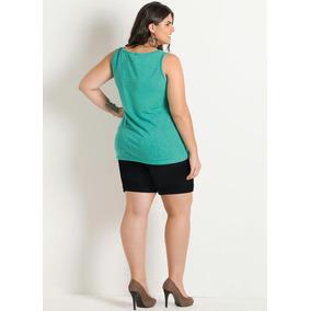 Blusa Regata Plus Size Linda Verão