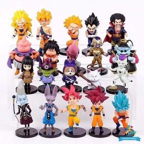 20 Bonecos Dragon Ball Z Goku Vegeta Coleção Miniaturas