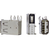 5 Unidades Conector Usb A Fêmea Vertical 4 Fixadores