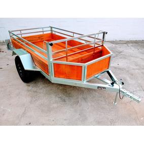 Carretinhas Carreta Reboque 1,20 X 2m C/ Cesta (galvanizada)