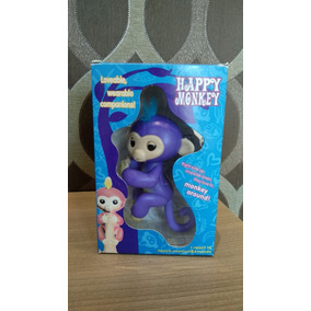 Agarradinho Happy Monkey Sensor Macaquinho Bebe Roxo