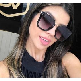 Óculos De Sol Femenino Retangular Blaze Nova Chic Blogueira 20bb91611a