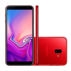 Smarphone Samsung J6 Plus, Vermelho, J610g, Tela De 6