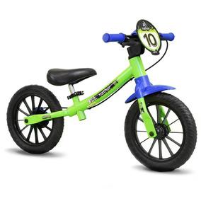 Bicicleta Infantil Nathor Balance Bike Masculina Sem Pedal