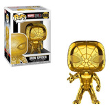 Funko Iron Spider Marvel Stud10s Gold Chrome