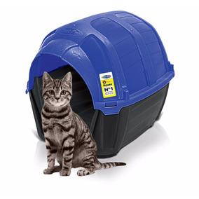 Casa Cama Gato Plast Pet Stone House No.1 Azul Envío Gratis