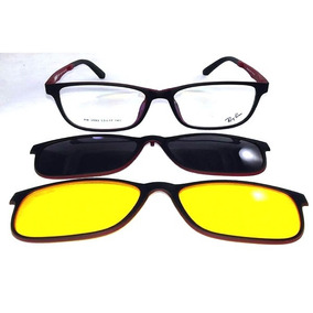 Oculos Clip On 3d Vermelho - Óculos Preto no Mercado Livre Brasil 18d3d819d2