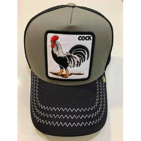 Gorra Goorin Bros Original Cock Negra Gris Gallo