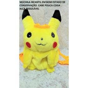 Mochila Infantil Pikachu Pokemon Usada H 7@