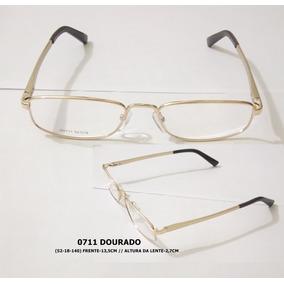 Armação Meio Aro Metal Dourado - Óculos no Mercado Livre Brasil ecb971167e